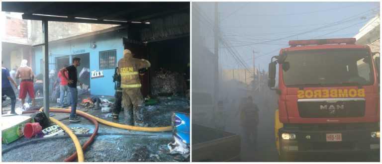 Caótico incendio se desarrolló en el barrio Concepción de San Pedro Sula