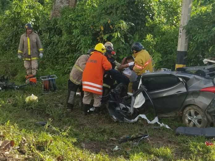 fatal accidente en carretera de el progreso a tela