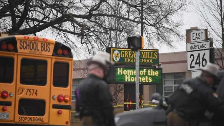 Tiroteo en escuela de Maryland: Murió el atacante y reportan 2 heridos