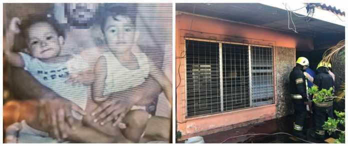 Bomberos dan informe sobre el incendio que mató a dos niños en San Pedro Sula