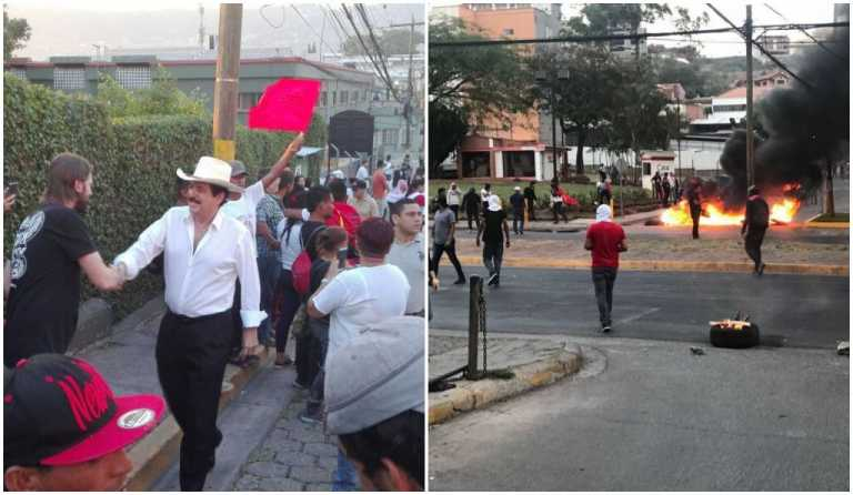 Alianza de Oposición realiza plantón en apoyo a la MACCIH