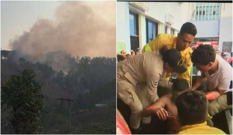Mueren dos bomberos tratando de sofocar incendio en La Montañita