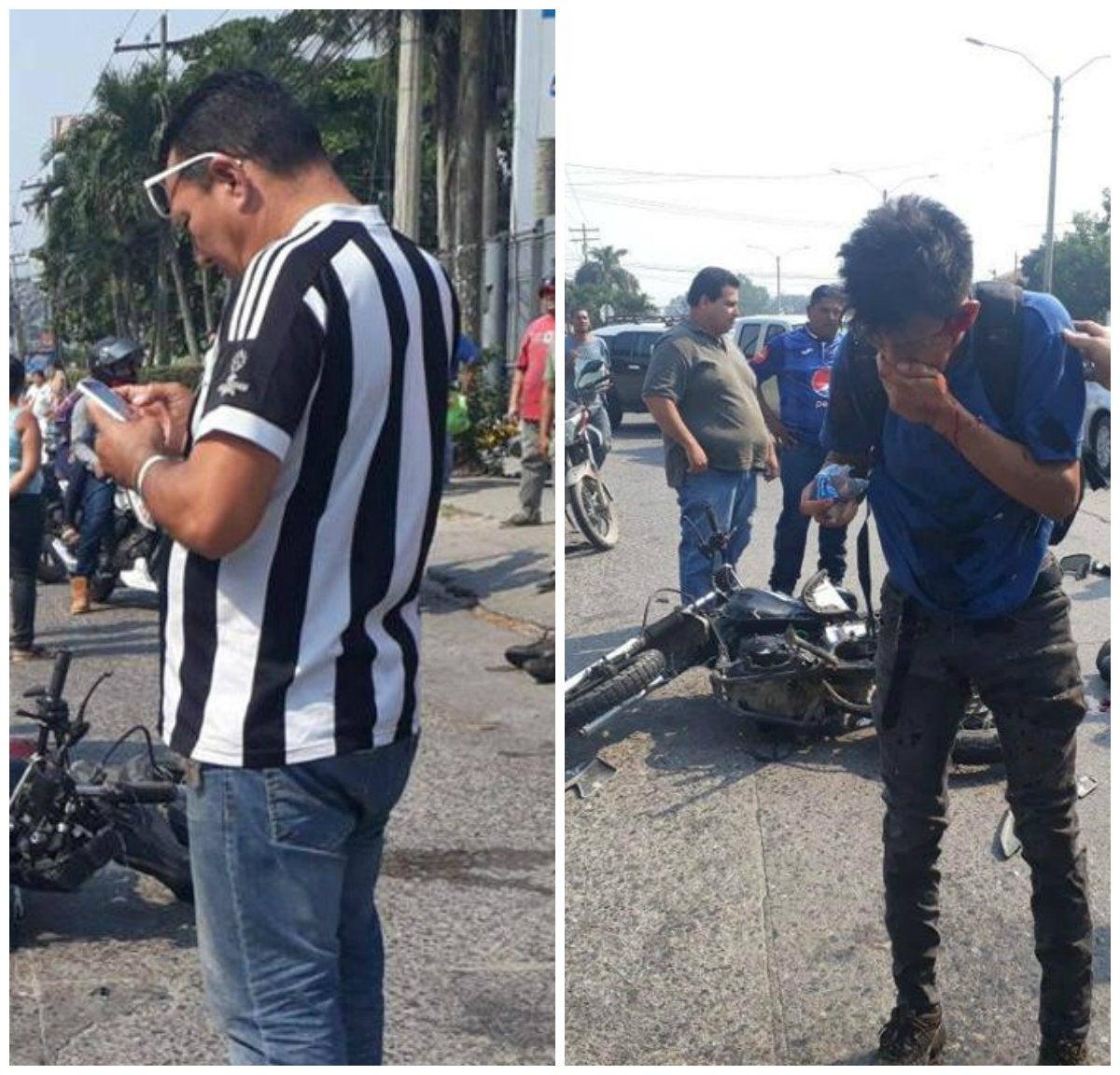 Colisión entre motociclistas deja tres personas heridas en San Pedro Sula