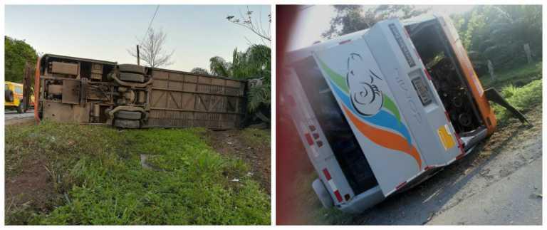 Accidente de tránsito deja un muerto y 17 heridos  en Tela