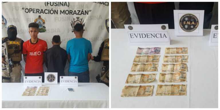 Detienen a tres presunto extorsionadores en San Pedro Sula