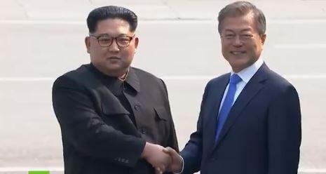 En busca de paz, líderes de Corea del Sur y Corea del Norte se reunen en la frontera