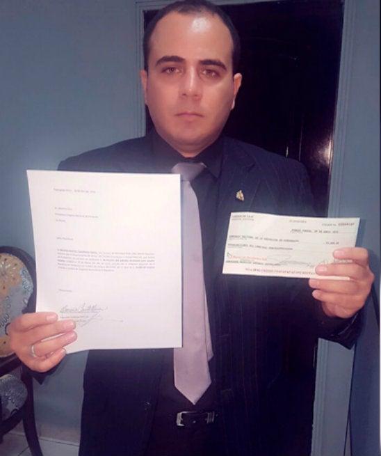 Diputado suplente por Cortés devuelve subsidio al CN