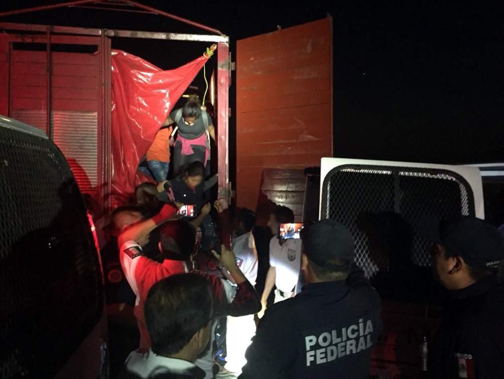 Hondureños rescatados en México