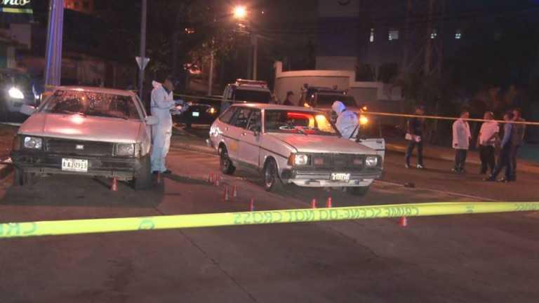 Un mujer muerta y un taxista herido por tiroteo en el Bulevar Morazán