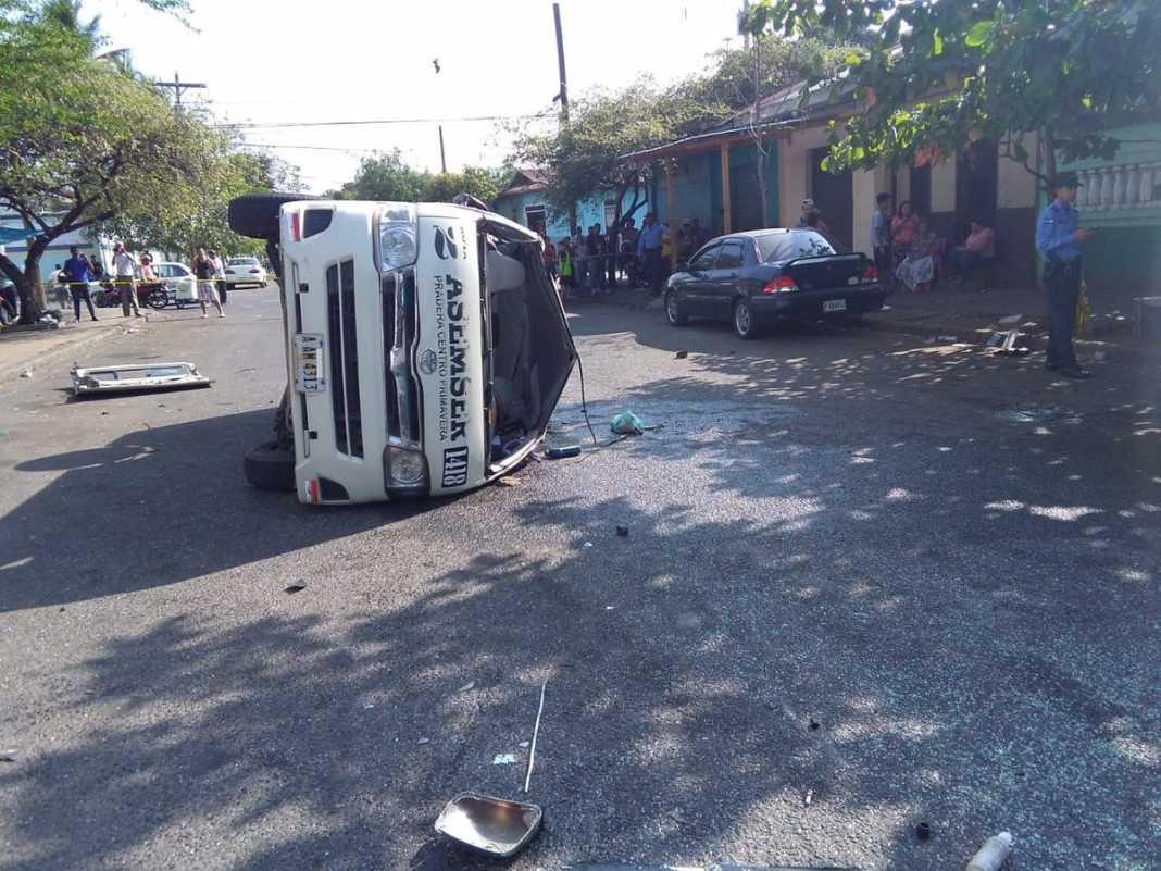 Accidente de tránsito en San Pedro Sula