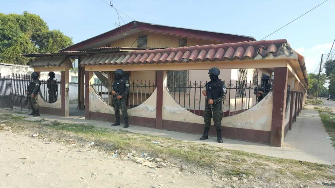 Allanamientos en Chamelecón