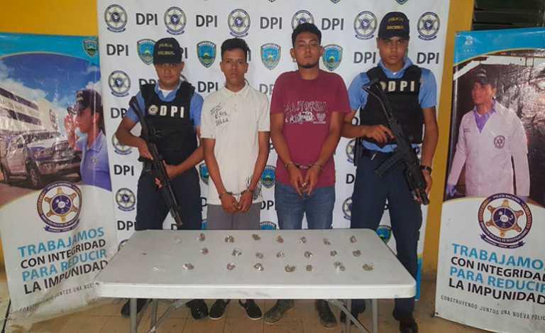Capturan con droga a dos integrantes de la mara MS-13 en El Progreso