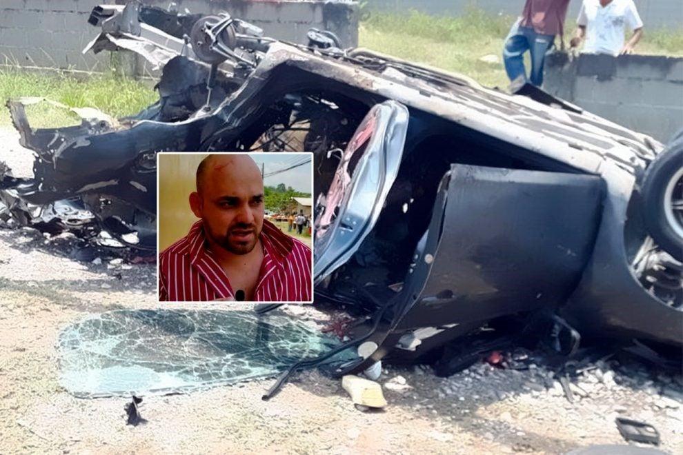 Explosión de vehículo en Copán