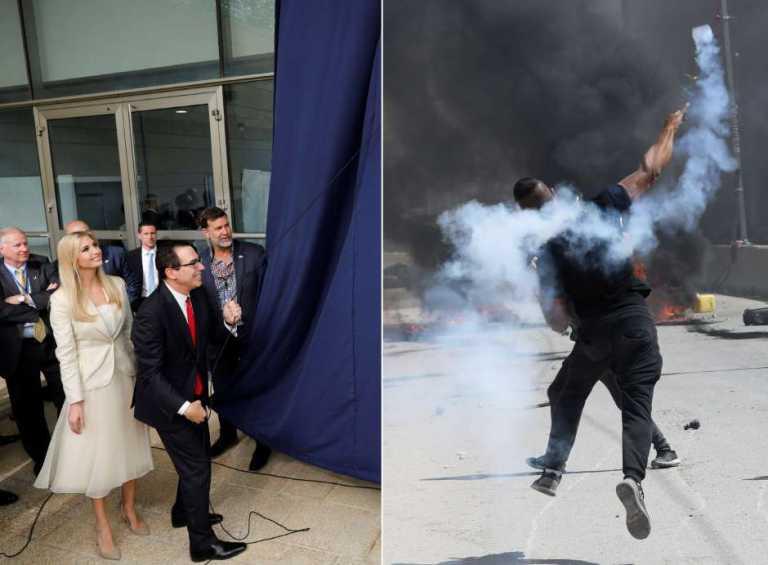 En medio de protestas inauguran embajada de EE.UU. en Jerusalén