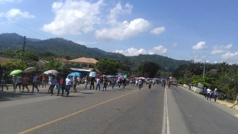 Protestas en Guaymas