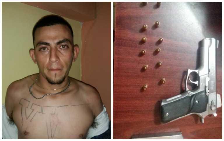 San Pedro Sula: Caen dos pandilleros con armas y vehículo robado