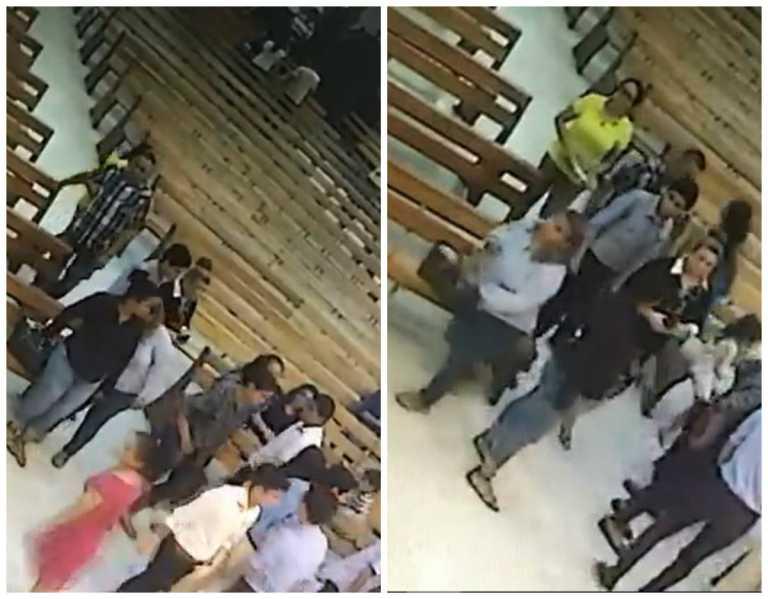 VÍDEO: Dentro de la parroquia San Vicente de Paúl roban cartera en San Pedro Sula
