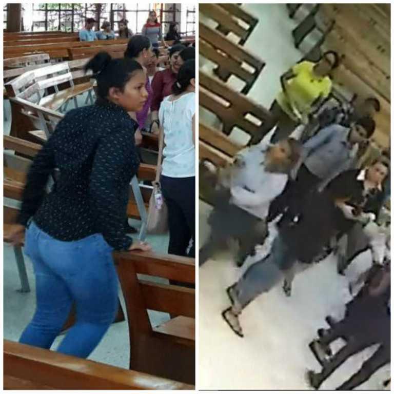 Piden recompensa por ladronas de cartera dentro de parroquia sampedrana