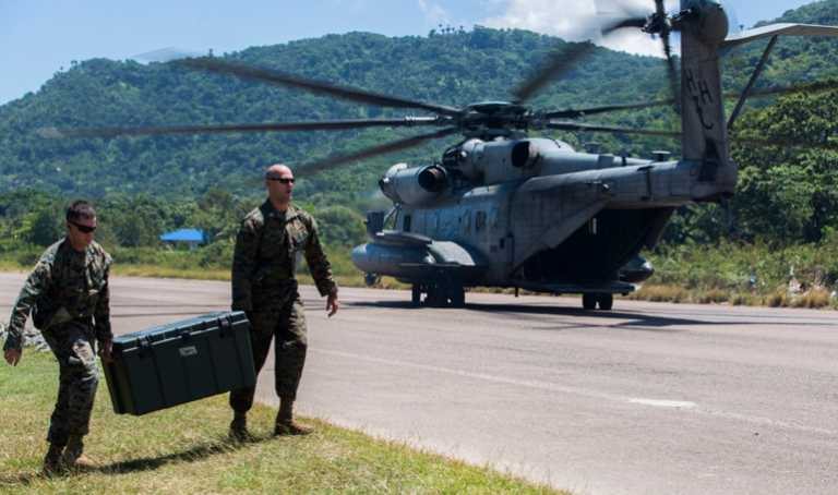 Fuerza de tarea de U.S.A llega al país para asistencia en caso de desastres