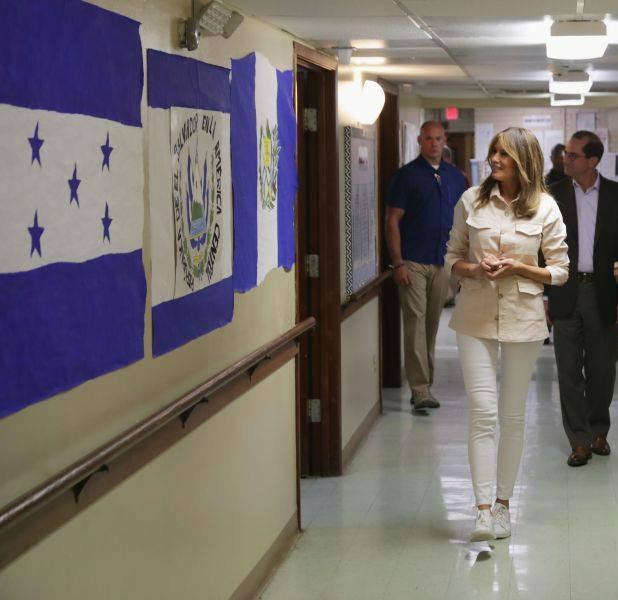 Melania Trump llega a centro de detención de menores migrantes en Texas