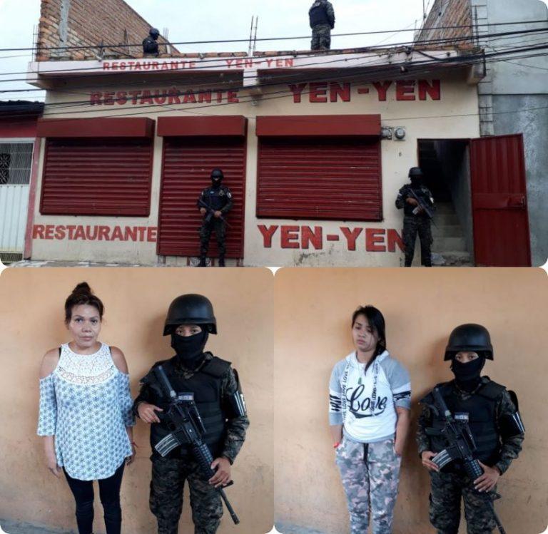 Tegucigalpa: Capturan a dos mujeres en allanamiento a restaurante de comida china