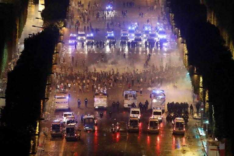 Dos fallecidos, numerosos disturbios y 300 arrestos en Francia en la celebración del título mundial