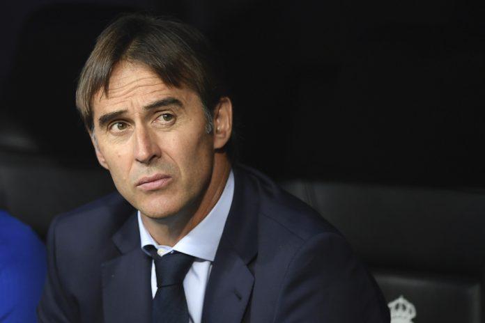 Lopetegui dirigió su primer entrenamiento en el banquillo del Real Madrid