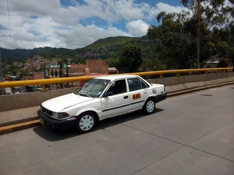 Taxista es asesinado por supuesto pasajero en Tegucigalpa