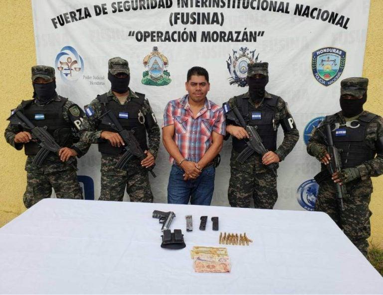 Capturan a presunto extraditable en el occidente de Honduras