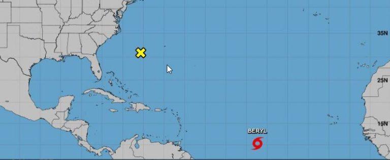 Huracán Beryl es el primero de la temporada 2018 en el Océano Atlántico