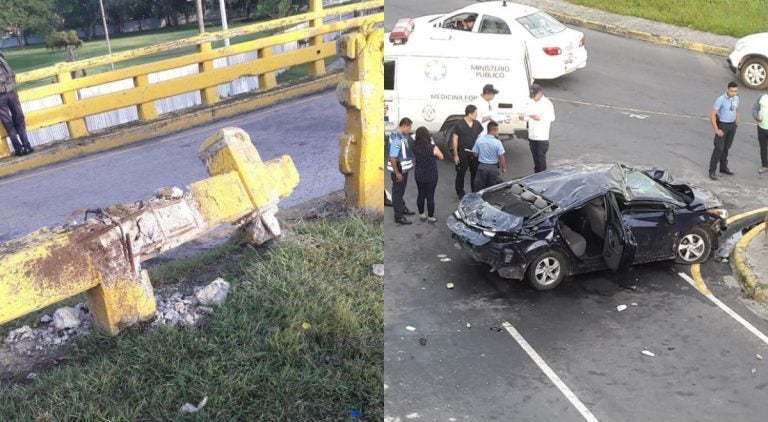 SPS: dos hombres caen de puente y se estrellan contra el pavimento