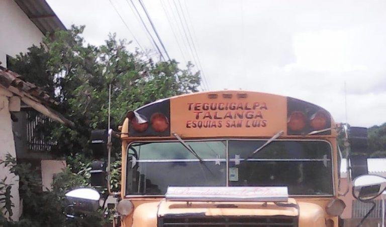 Comayagua: A balazos asesinan a conductor de bus interurbano