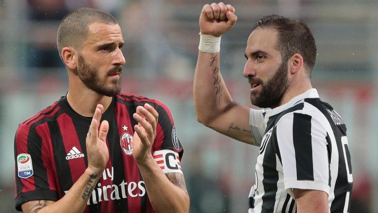 Oficial: Higuaín ya es del Milán y y Bonucci vuelve a la Juventus