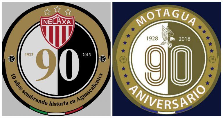 ¡Motagua acusado de plagiar escudo del aniversario 90 del Necaxa de México!