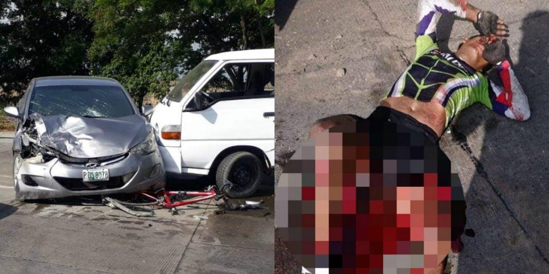 ciclista herido en La Lima