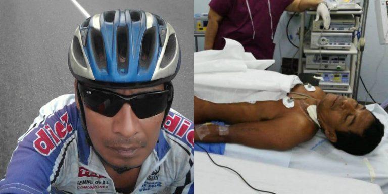 Ciclista atropellado lucha por su vida; ayúdale a ganar la carrera