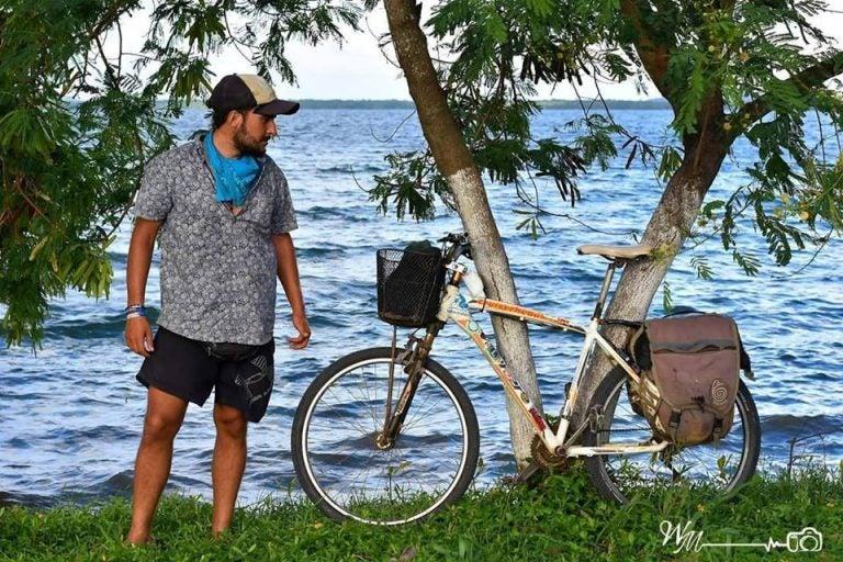 Palabras de Tabare Alonso al recuperar su bicicleta y el poema que dedicó a Honduras