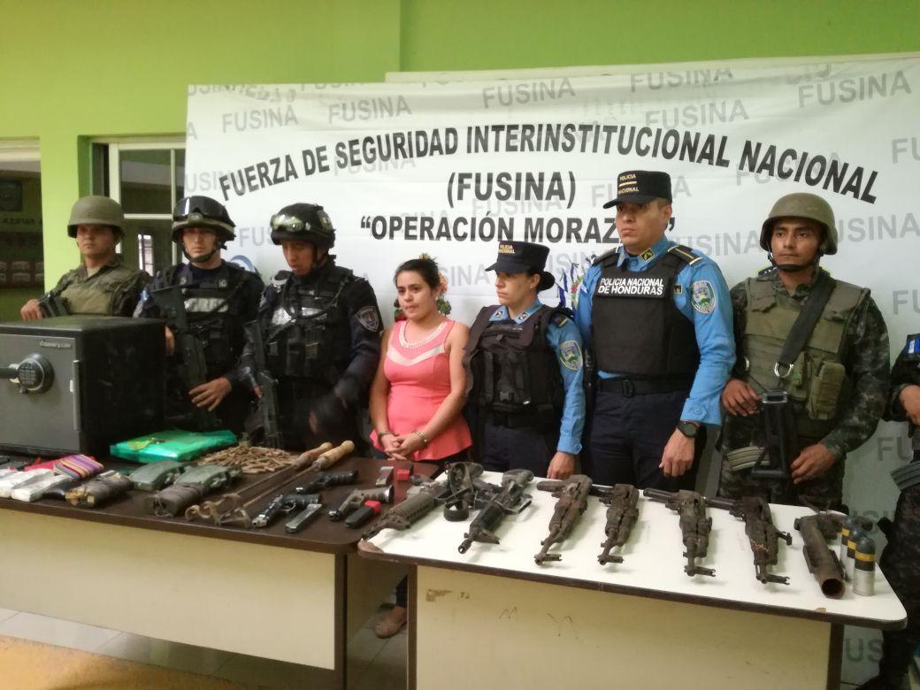 mujer detenida en Copán