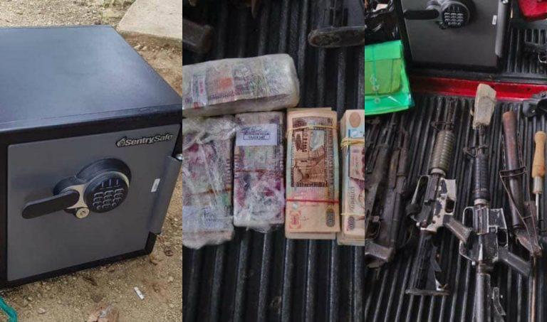 Armas, caja fuerte, dinero en efectivo y varios detenidos tras operativo en Copán