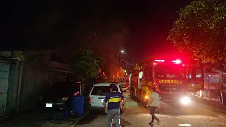 Esta noche hubo un incendio en una colonia de San Pedro Sula