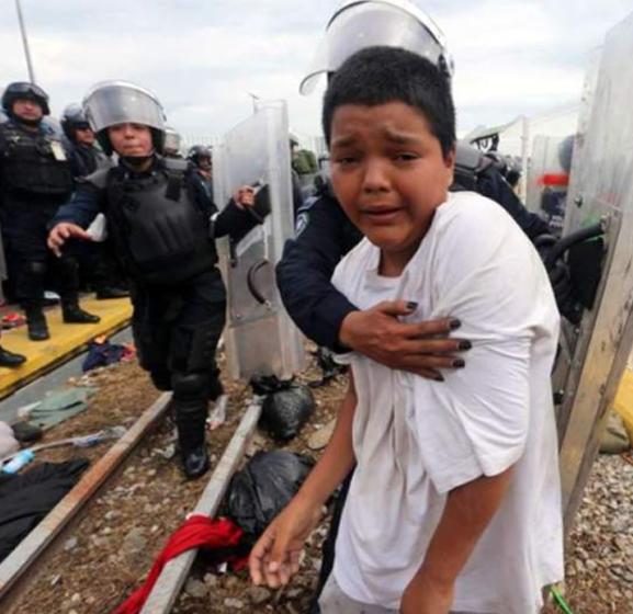 Está extraviado el niño símbolo de la caravana de migrantes, Mario Castellanos