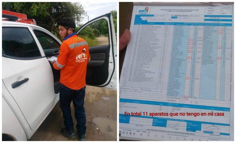 VÍDEO: empleados de la EEH falsifican reporte de consumo eléctrico a ciudadano