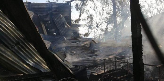 casa se incendia en Choloma