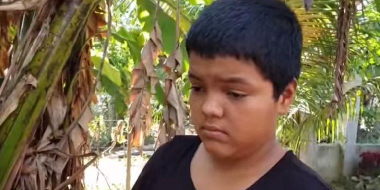 Mario Castellanos, el niño símbolo de caravana sueña con ser ingeniero