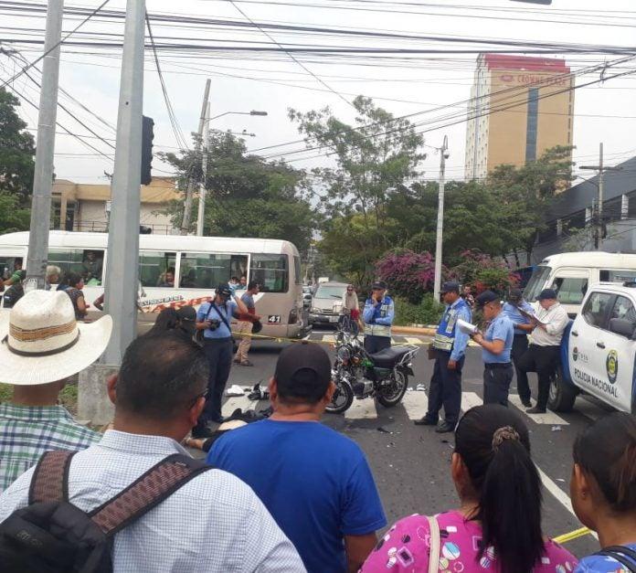 guardia muerto por accidente en San Pedro Sula