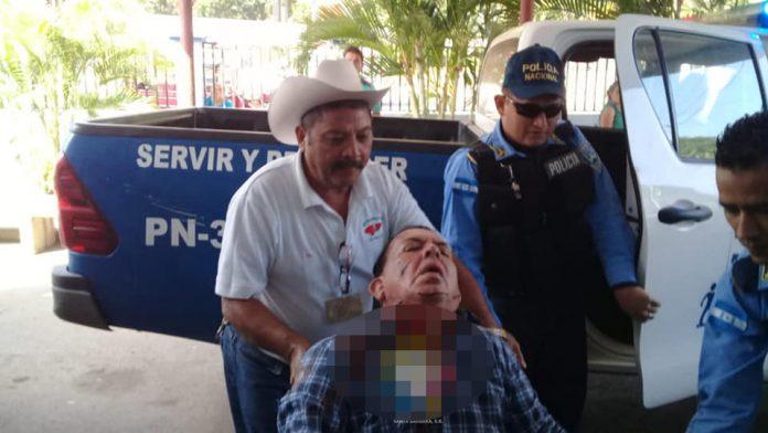 juez de paz herido en Santa Bárbara