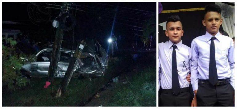 Tragedia en Omoa: un día después de su graduación murieron atropellados