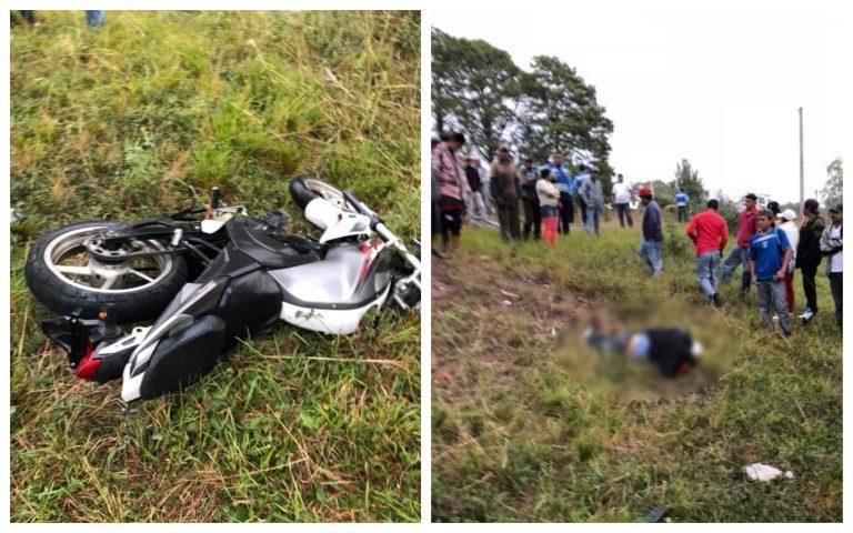 Policía de Tránsito muere al chocar su motocicleta contra un árbol en Talanga