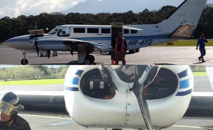 avioneta en La Ceiba