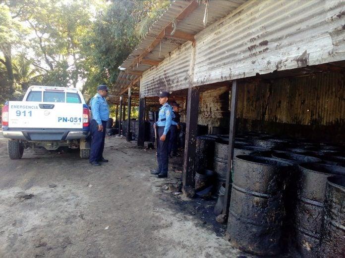 combustible decomisado en Puerto Cortés